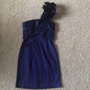 Purple spandex mini dress